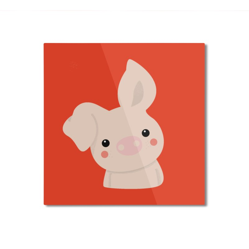 Happy Chinese New Year - Pig Home Mounted Aluminum Print by theladyernestember's Artist Shop
