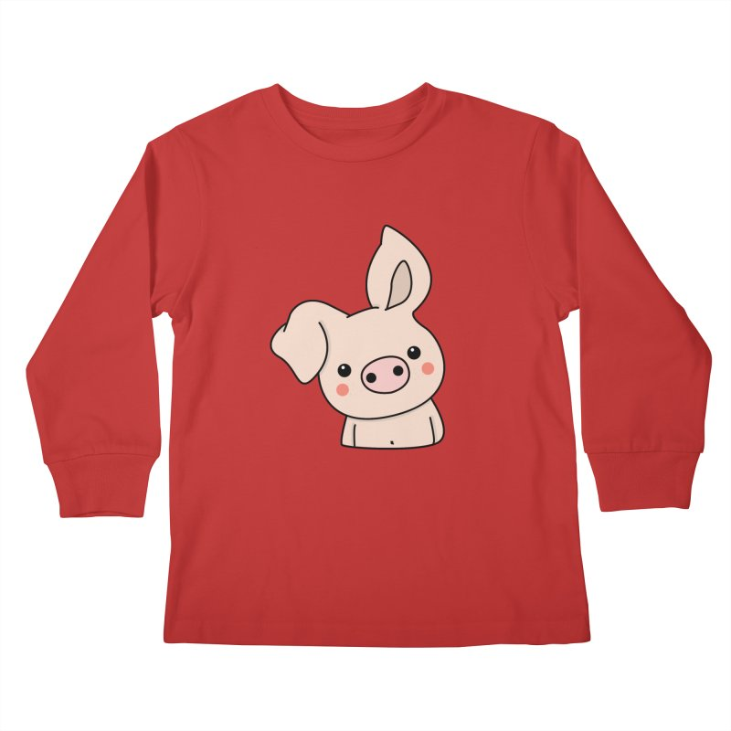 Happy Chinese New Year - Pig Kids Longsleeve T-Shirt by theladyernestember's Artist Shop