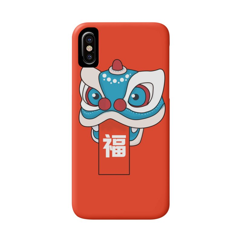 Happy Chinese New Year - Lion Dance Accessories Phone Case by theladyernestember's Artist Shop
