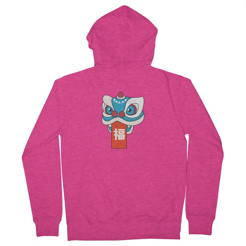 Happy Chinese New Year - Lion Dance Women's French Terry Zip-Up Hoody by theladyernestember's Artist Shop