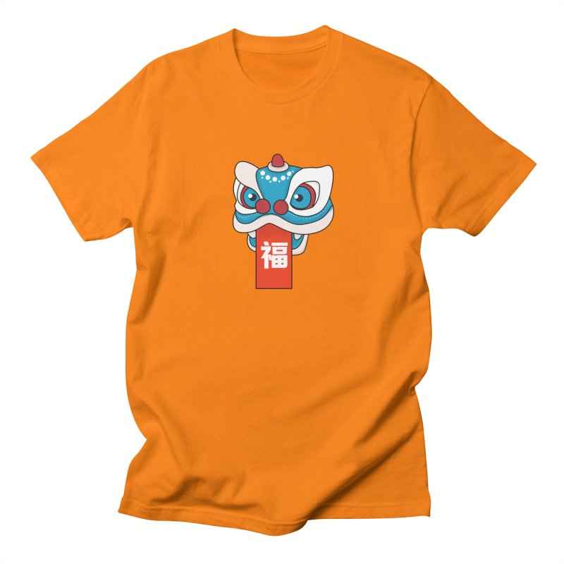 Happy Chinese New Year - Lion Dance Men's Regular T-Shirt by theladyernestember's Artist Shop