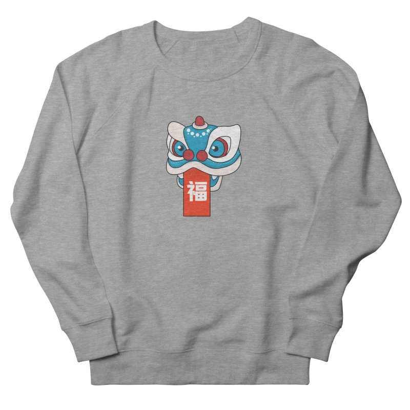 Happy Chinese New Year - Lion Dance Women's French Terry Sweatshirt by theladyernestember's Artist Shop