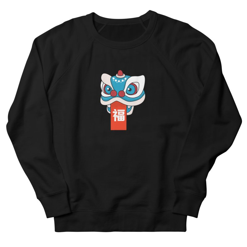 Happy Chinese New Year - Lion Dance Men's French Terry Sweatshirt by theladyernestember's Artist Shop