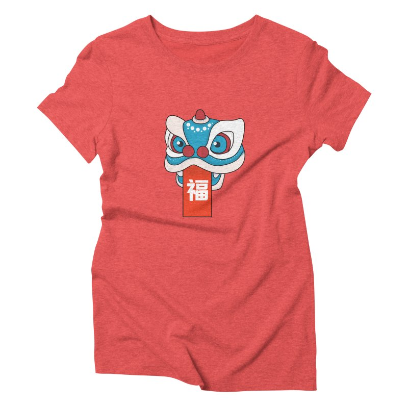Happy Chinese New Year - Lion Dance Women's Triblend T-Shirt by theladyernestember's Artist Shop