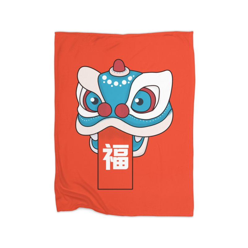 Happy Chinese New Year - Lion Dance Home Blanket by theladyernestember's Artist Shop