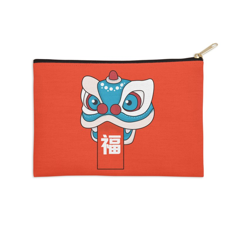 Happy Chinese New Year - Lion Dance Accessories Zip Pouch by theladyernestember's Artist Shop