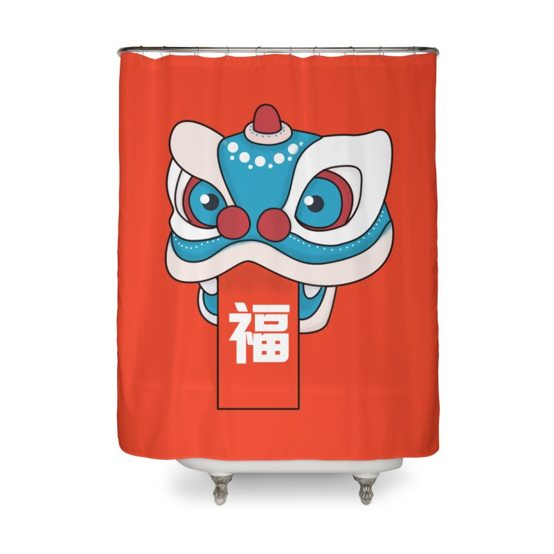 Happy Chinese New Year - Lion Dance Home Shower Curtain by theladyernestember's Artist Shop