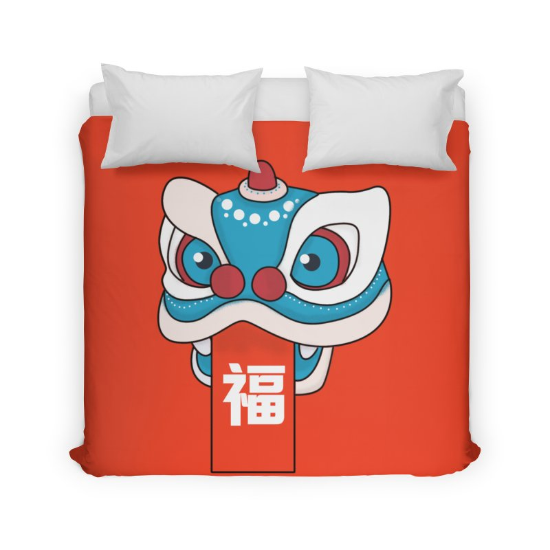 Happy Chinese New Year - Lion Dance Home Duvet by theladyernestember's Artist Shop