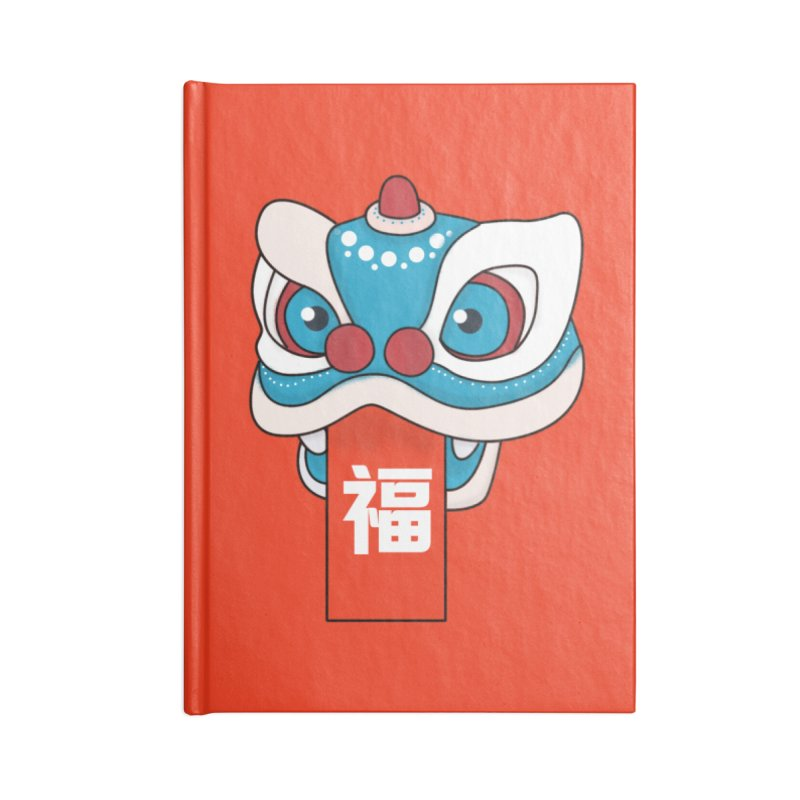 Happy Chinese New Year - Lion Dance Accessories Notebook by theladyernestember's Artist Shop