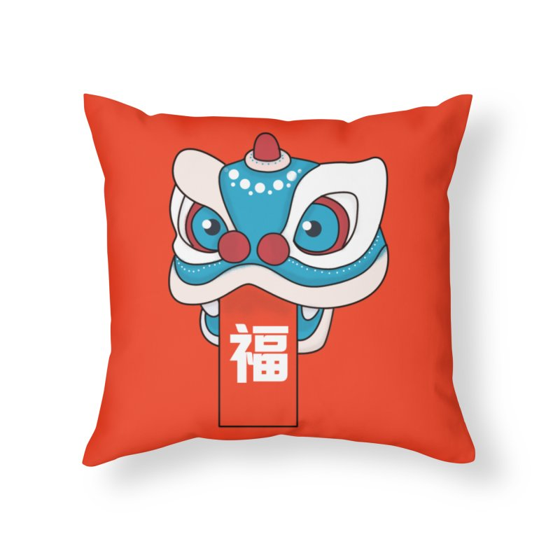 Happy Chinese New Year - Lion Dance Home Throw Pillow by theladyernestember's Artist Shop