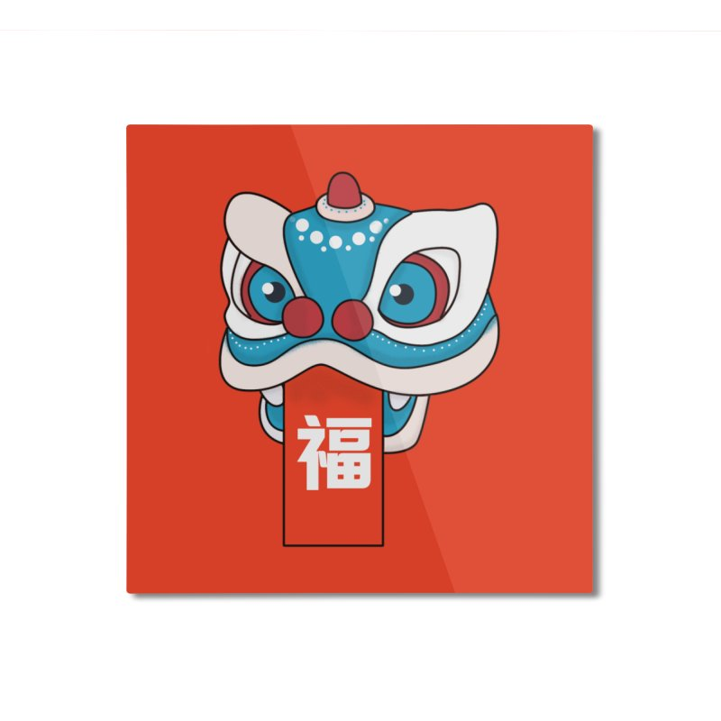 Happy Chinese New Year - Lion Dance Home Mounted Aluminum Print by theladyernestember's Artist Shop