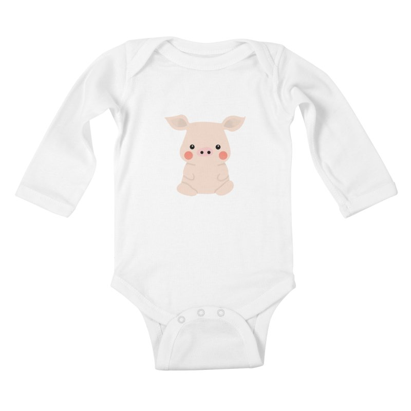 Happy Chinese New Year - Pig Kids Baby Longsleeve Bodysuit by theladyernestember's Artist Shop
