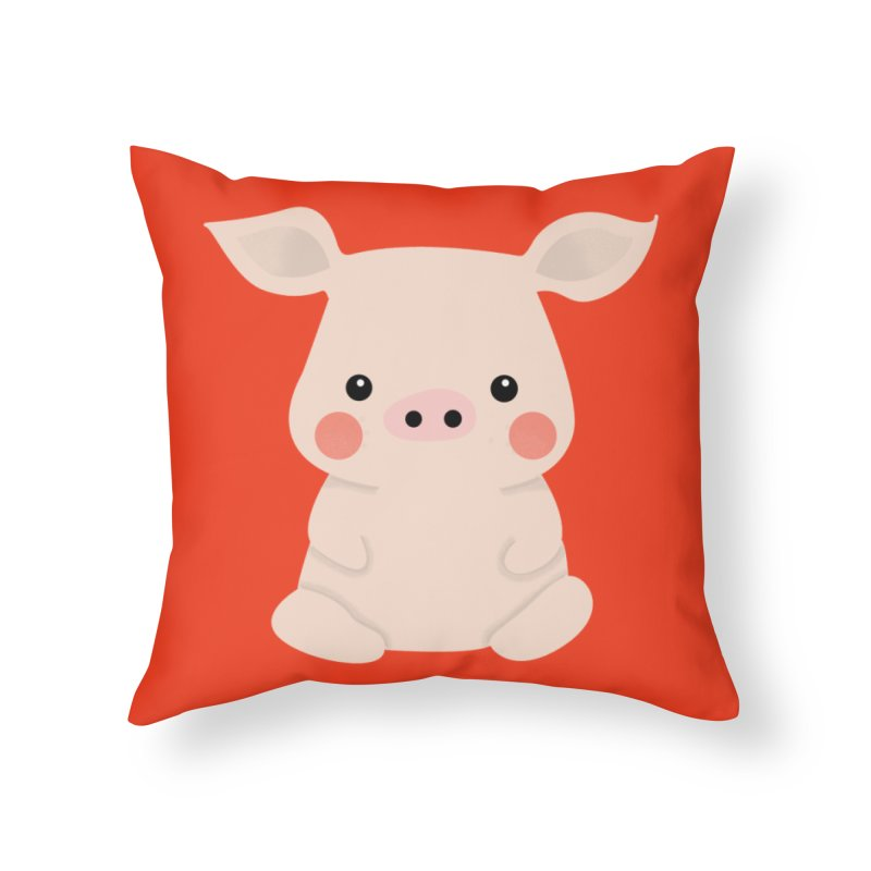 Happy Chinese New Year - Pig Home Throw Pillow by theladyernestember's Artist Shop