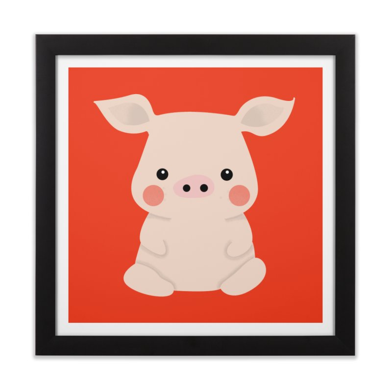 Happy Chinese New Year - Pig Home Framed Fine Art Print by theladyernestember's Artist Shop