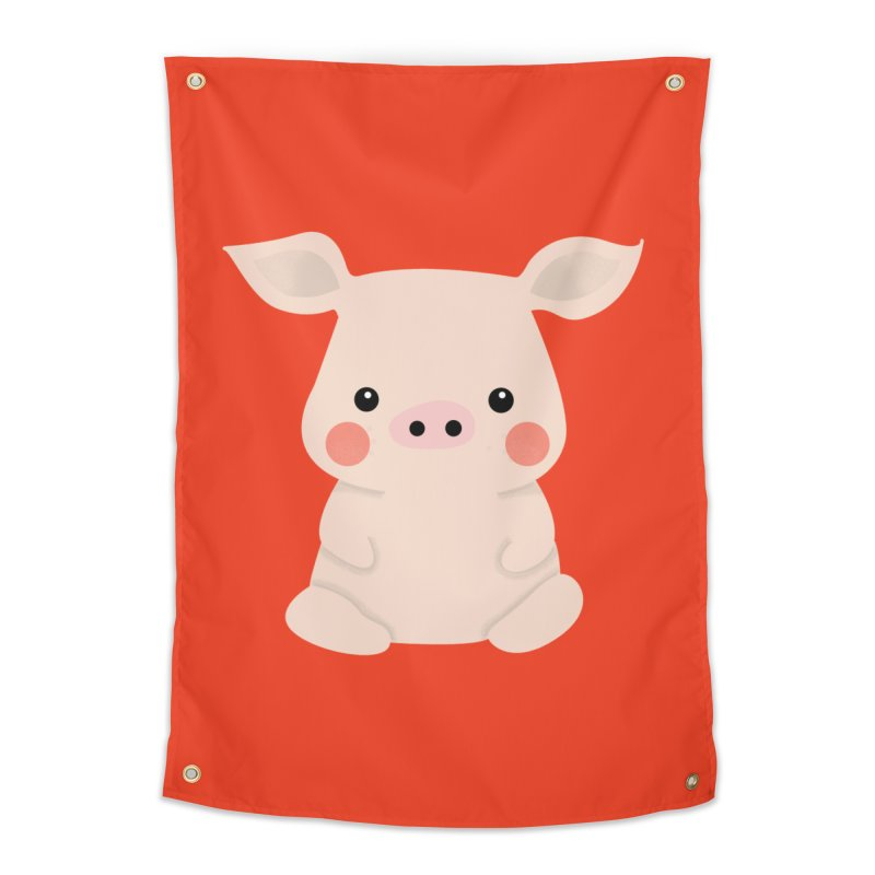 Happy Chinese New Year - Pig Home Tapestry by theladyernestember's Artist Shop