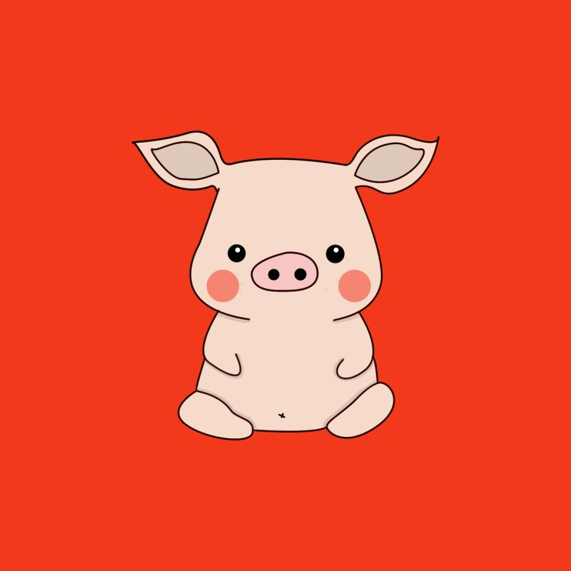 Happy Chinese New Year - Pig by the lady ernest ember's Artist Shop