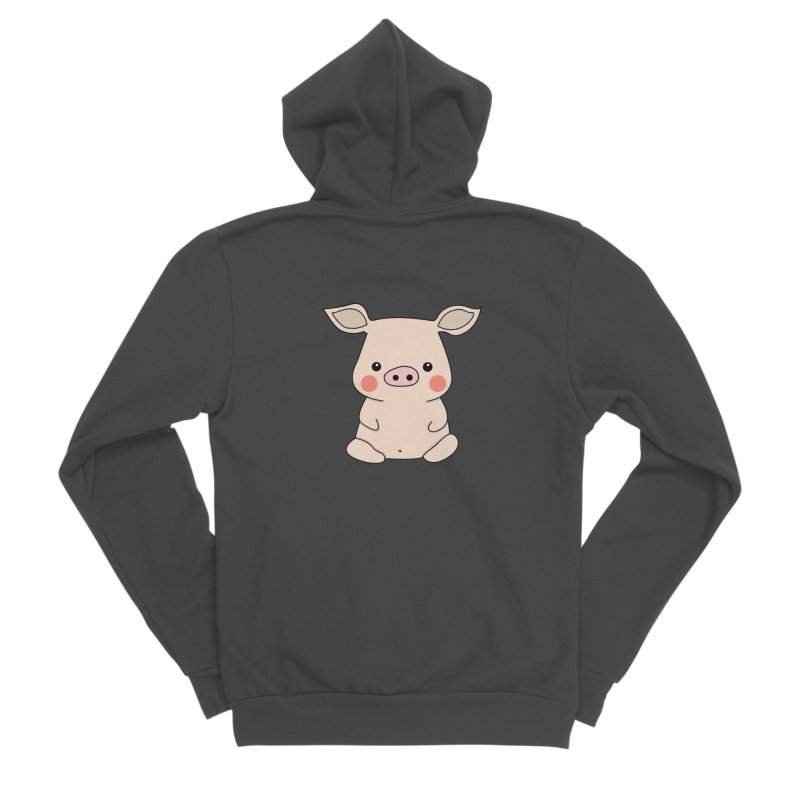 Happy Chinese New Year - Pig Men's Sponge Fleece Zip-Up Hoody by the lady ernest ember's Artist Shop