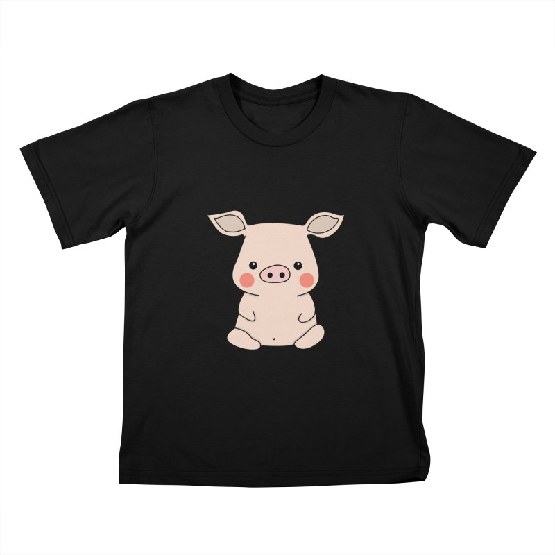 Happy Chinese New Year - Pig Kids T-Shirt by the lady ernest ember's Artist Shop