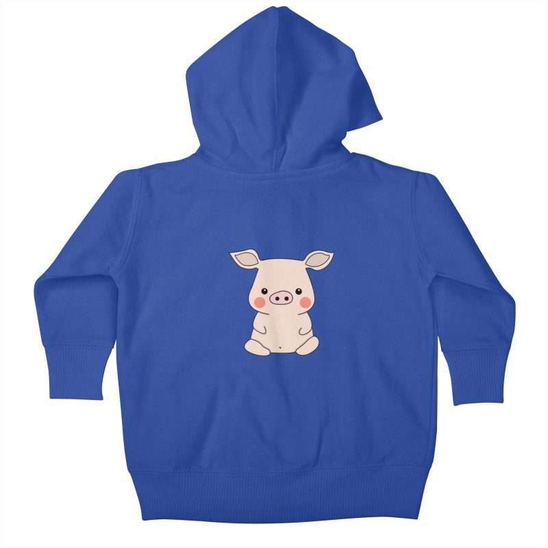 Happy Chinese New Year - Pig Kids Baby Zip-Up Hoody by the lady ernest ember's Artist Shop