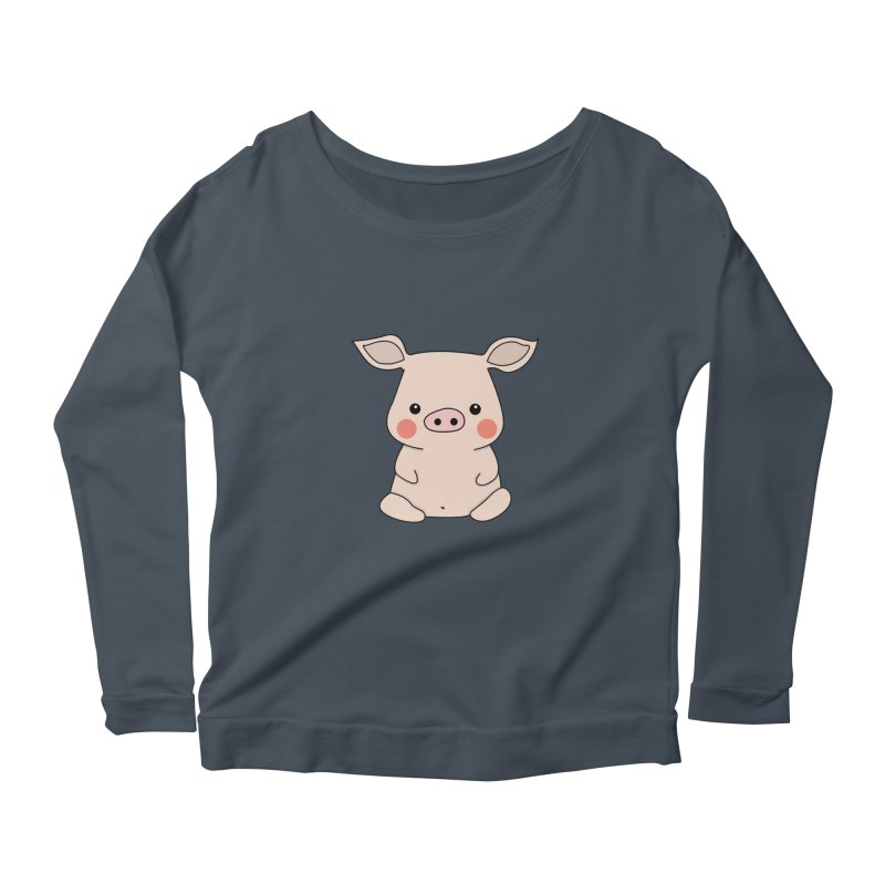 Happy Chinese New Year - Pig Women's Scoop Neck Longsleeve T-Shirt by the lady ernest ember's Artist Shop