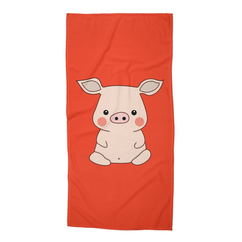 Happy Chinese New Year - Pig Accessories Beach Towel by theladyernestember's Artist Shop