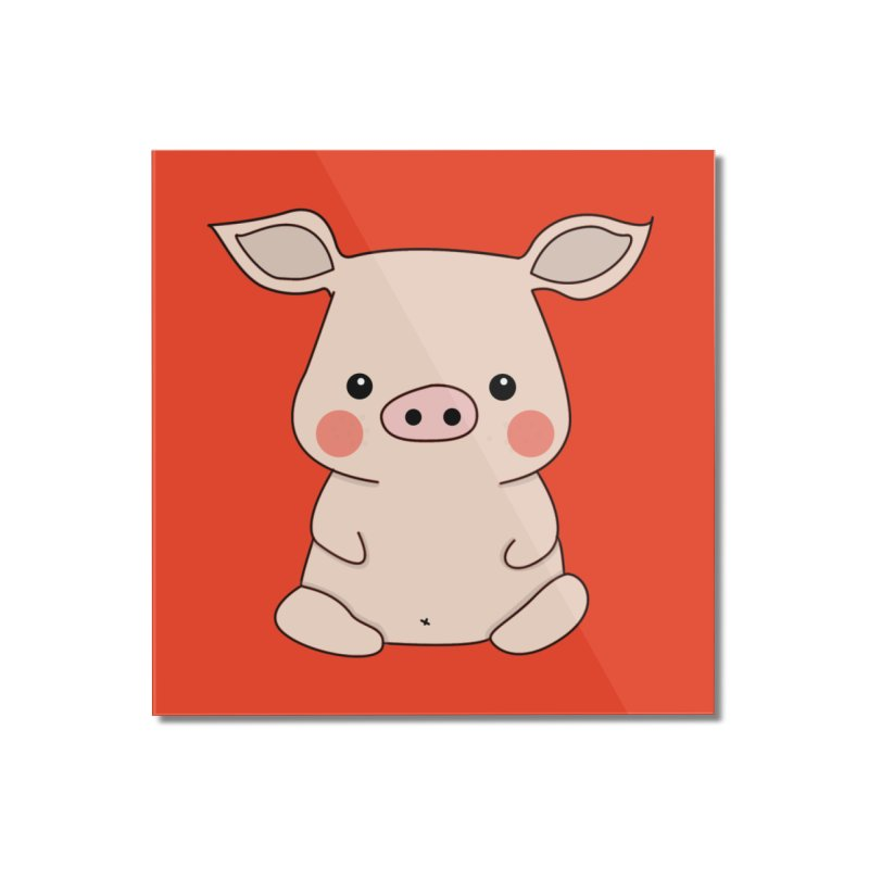 Happy Chinese New Year - Pig Home Mounted Acrylic Print by the lady ernest ember's Artist Shop
