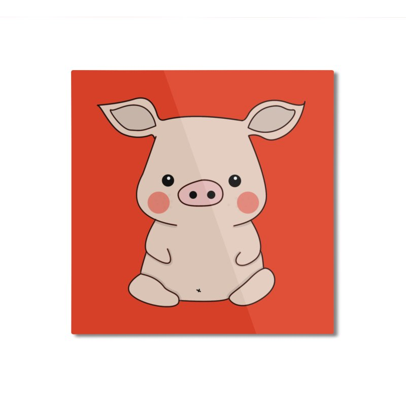 Happy Chinese New Year - Pig Home Mounted Aluminum Print by the lady ernest ember's Artist Shop