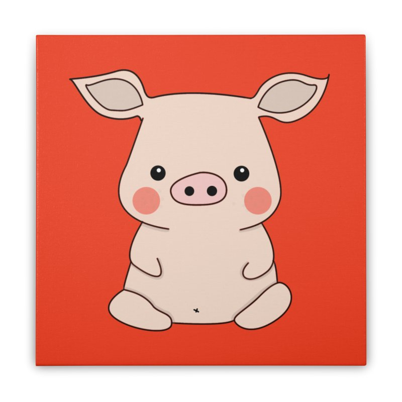 Happy Chinese New Year - Pig Home Stretched Canvas by theladyernestember's Artist Shop