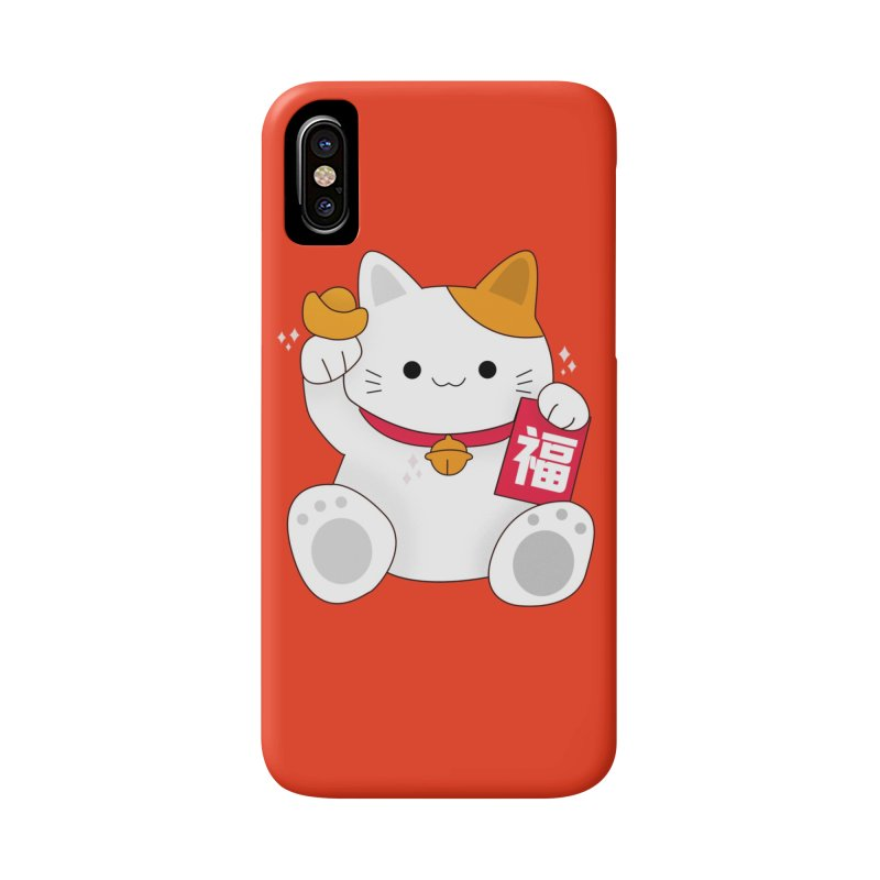 Happy Chinese New Year - Fortune Cat Accessories Phone Case by theladyernestember's Artist Shop