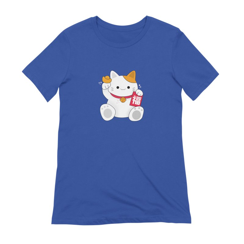 Happy Chinese New Year - Fortune Cat Women's Extra Soft T-Shirt by the lady ernest ember's Artist Shop
