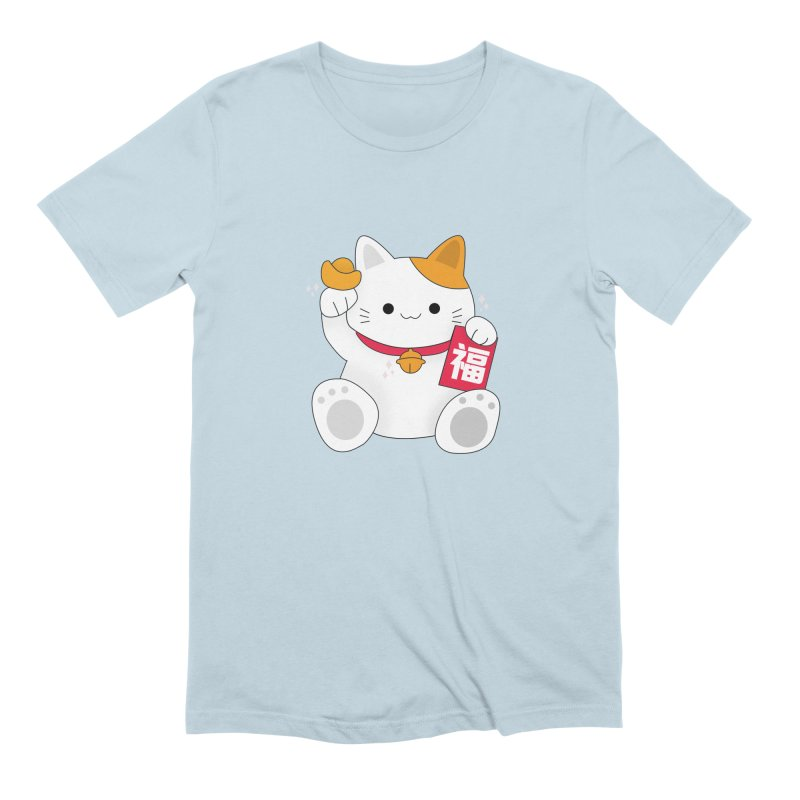Happy Chinese New Year - Fortune Cat Men's Extra Soft T-Shirt by the lady ernest ember's Artist Shop