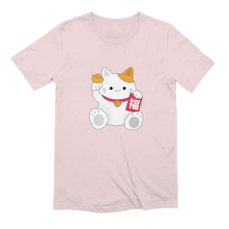 Happy Chinese New Year - Fortune Cat Men's Extra Soft T-Shirt by theladyernestember's Artist Shop