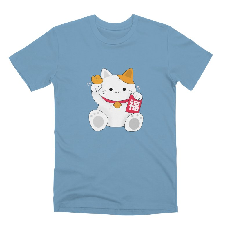 Happy Chinese New Year - Fortune Cat Men's Premium T-Shirt by theladyernestember's Artist Shop