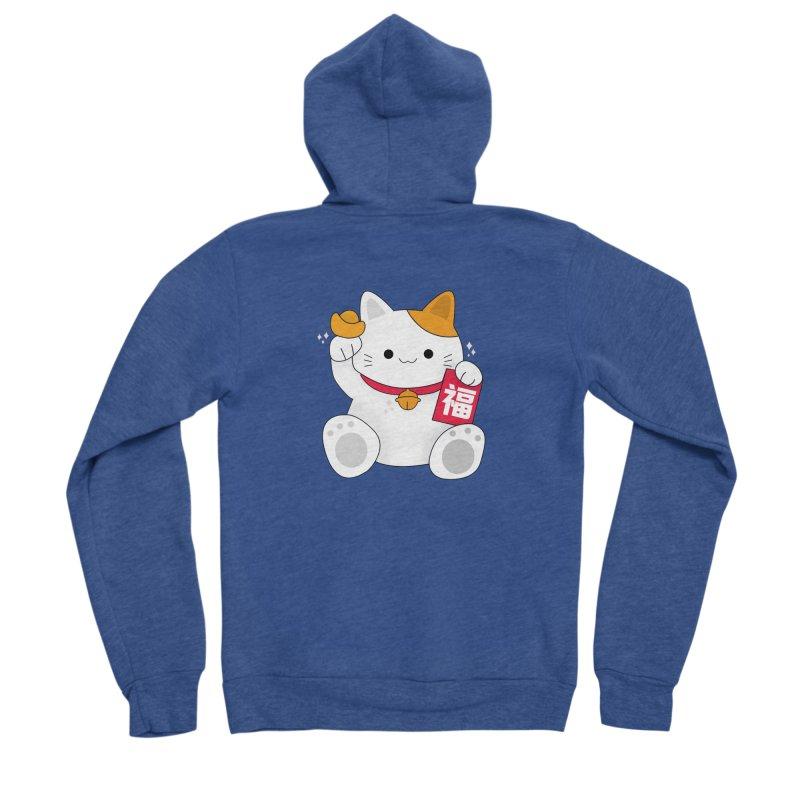 Happy Chinese New Year - Fortune Cat Women's Sponge Fleece Zip-Up Hoody by theladyernestember's Artist Shop
