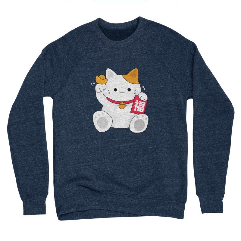 Happy Chinese New Year - Fortune Cat Women's Sponge Fleece Sweatshirt by the lady ernest ember's Artist Shop