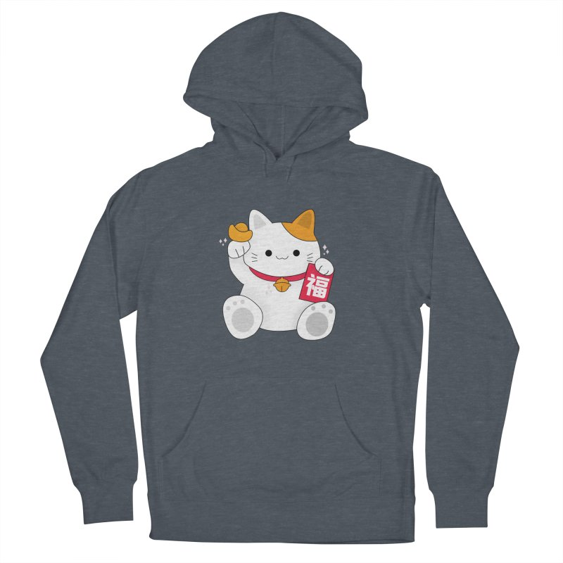 Happy Chinese New Year - Fortune Cat Women's French Terry Pullover Hoody by theladyernestember's Artist Shop