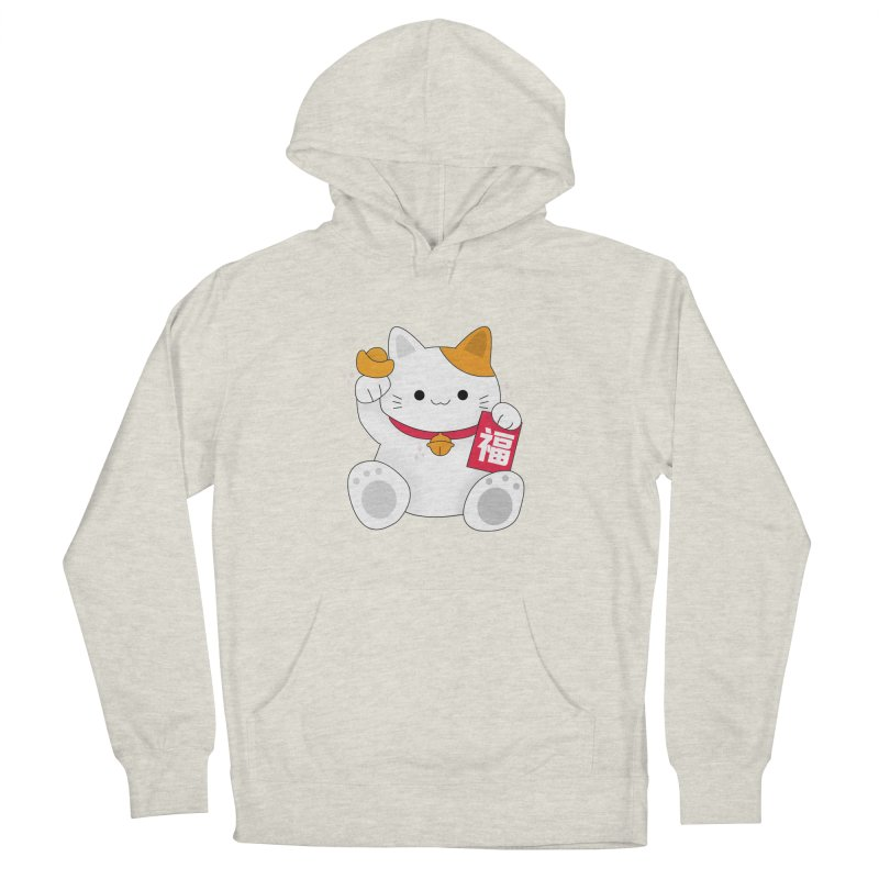 Happy Chinese New Year - Fortune Cat Men's French Terry Pullover Hoody by the lady ernest ember's Artist Shop