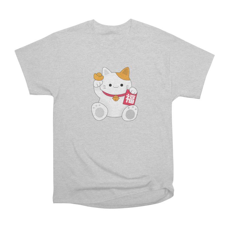 Happy Chinese New Year - Fortune Cat Men's Heavyweight T-Shirt by the lady ernest ember's Artist Shop