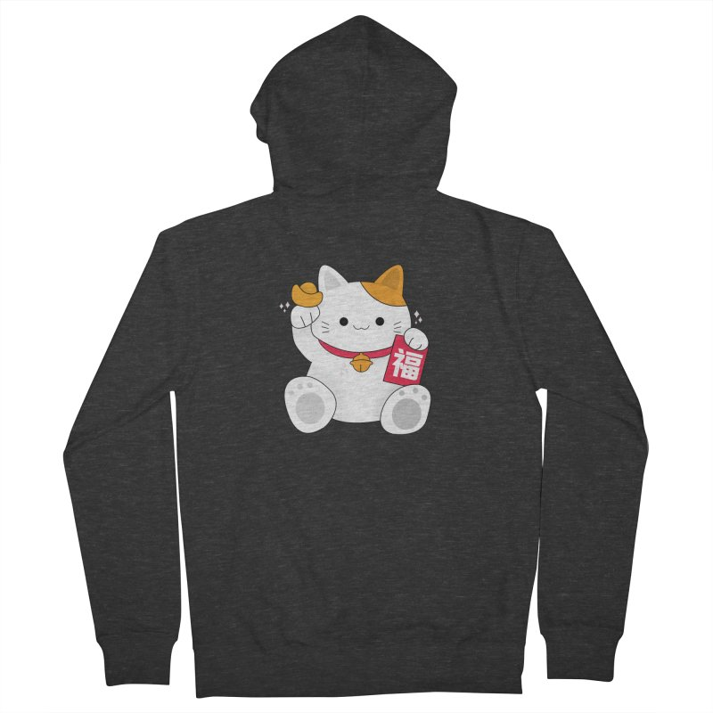 Happy Chinese New Year - Fortune Cat Women's French Terry Zip-Up Hoody by theladyernestember's Artist Shop