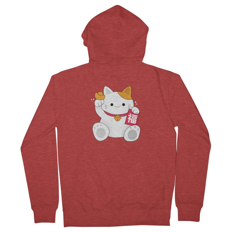 Happy Chinese New Year - Fortune Cat Men's French Terry Zip-Up Hoody by theladyernestember's Artist Shop
