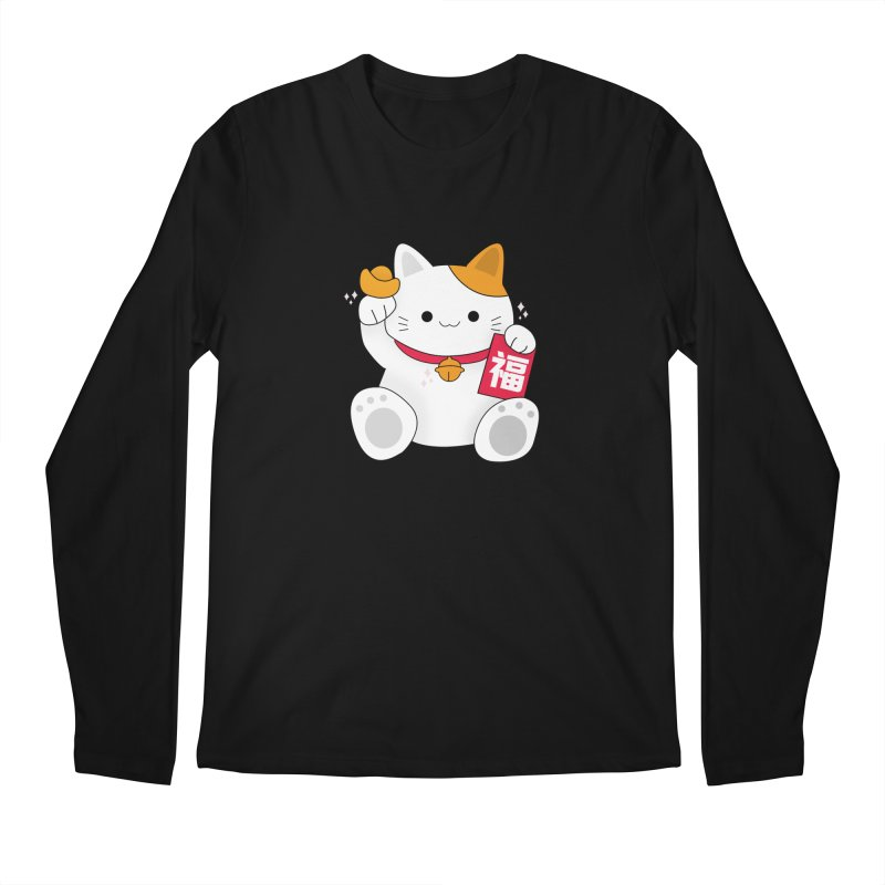 Happy Chinese New Year - Fortune Cat Men's Regular Longsleeve T-Shirt by theladyernestember's Artist Shop