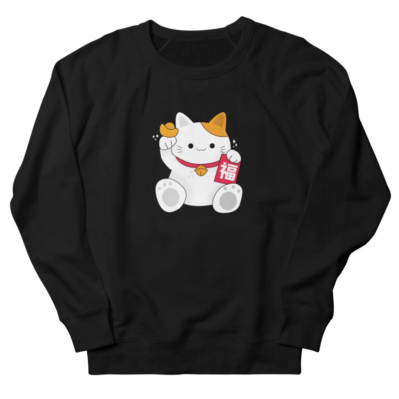 Happy Chinese New Year - Fortune Cat Women's French Terry Sweatshirt by theladyernestember's Artist Shop