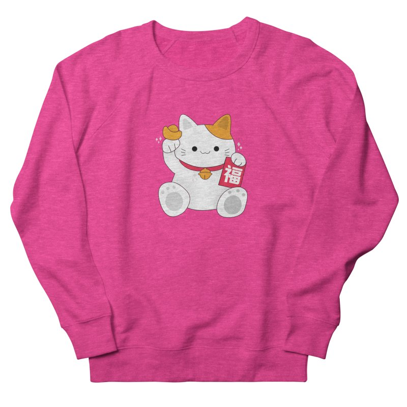 Happy Chinese New Year - Fortune Cat Men's French Terry Sweatshirt by theladyernestember's Artist Shop