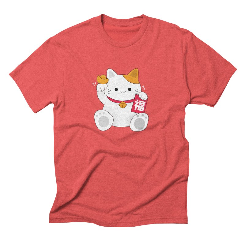 Happy Chinese New Year - Fortune Cat Men's Triblend T-Shirt by theladyernestember's Artist Shop