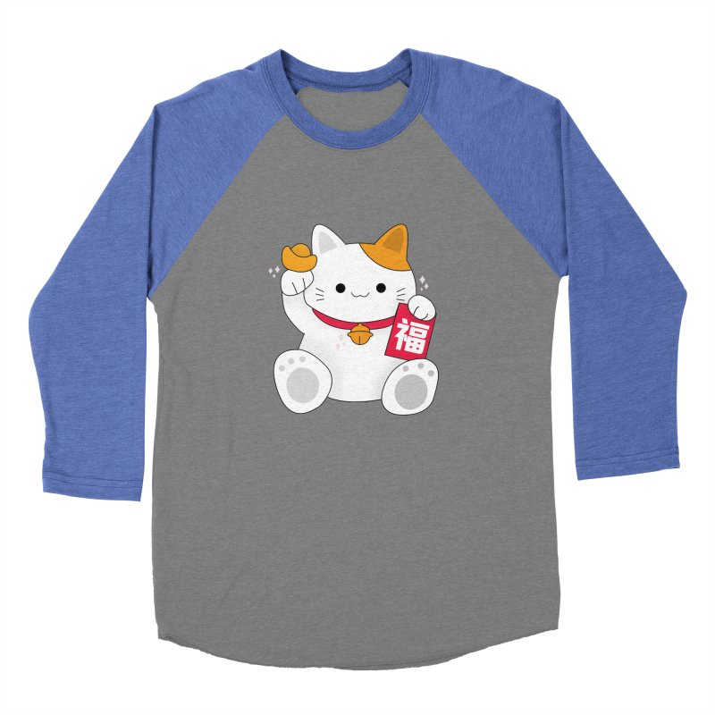 Happy Chinese New Year - Fortune Cat Women's Baseball Triblend Longsleeve T-Shirt by theladyernestember's Artist Shop
