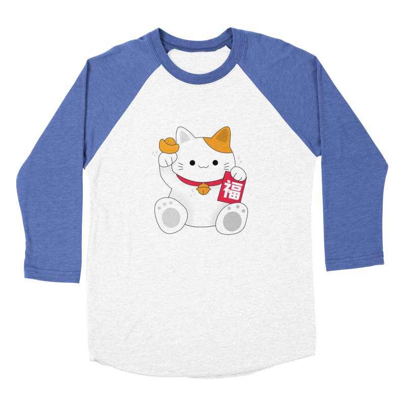 Happy Chinese New Year - Fortune Cat Men's Baseball Triblend Longsleeve T-Shirt by theladyernestember's Artist Shop
