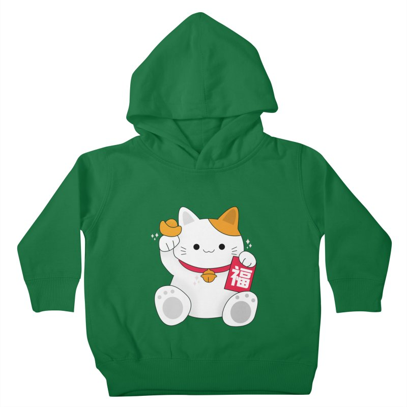 Happy Chinese New Year - Fortune Cat Kids Toddler Pullover Hoody by theladyernestember's Artist Shop