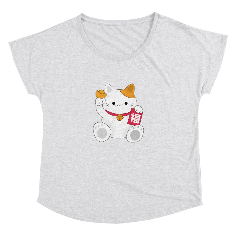 Happy Chinese New Year - Fortune Cat Women's Dolman Scoop Neck by theladyernestember's Artist Shop