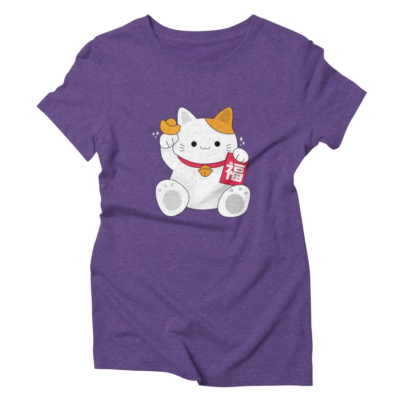 Happy Chinese New Year - Fortune Cat Women's Triblend T-Shirt by theladyernestember's Artist Shop