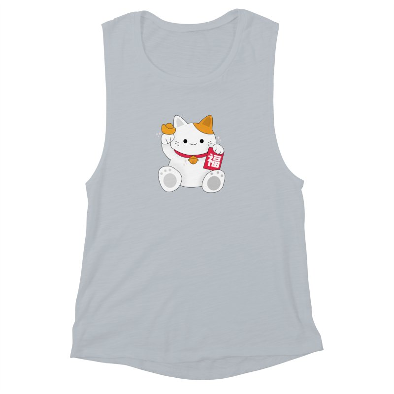 Happy Chinese New Year - Fortune Cat Women's Muscle Tank by theladyernestember's Artist Shop